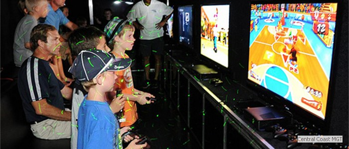 Four High-Definition Gaming Centers inside...